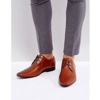 perforated derby shoes in brown - tan, New look