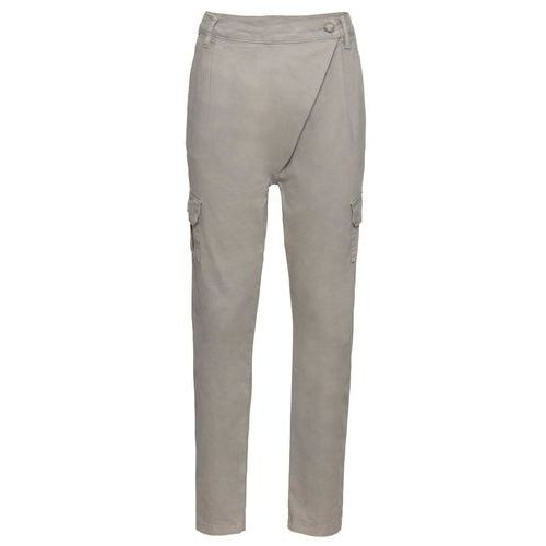 Spodnie chino bonprix dymny szary