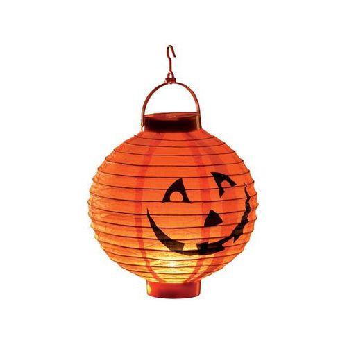 Świecący lampion dynia na halloween - 20 cm - 1 szt. marki Carnival