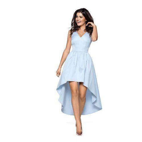 90b1c25ce4 Niebieska wieczorowa sukienka z wydłużonym tyłem marki Kartes moda