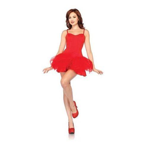 Kostium sukienka tutu z fiszbinami czerwona - Roz. S/M