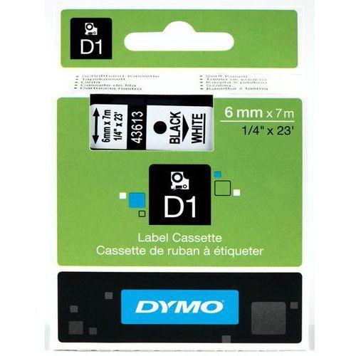 Taśma d1  6 mm x 7 m - s0720780 - 43613 czarny/biały marki Dymo