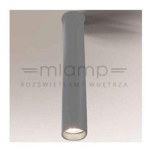Shilo Plafon lampa sufitowa yabu 8025/gu10/sz łazienkowa oprawa minimalistyczna tuba ip44 szara