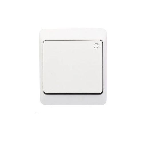 Łącznik zwierny światło natynkowy IP44 biały 0336-02 Hermes Elektro-Plast (5901130484003)