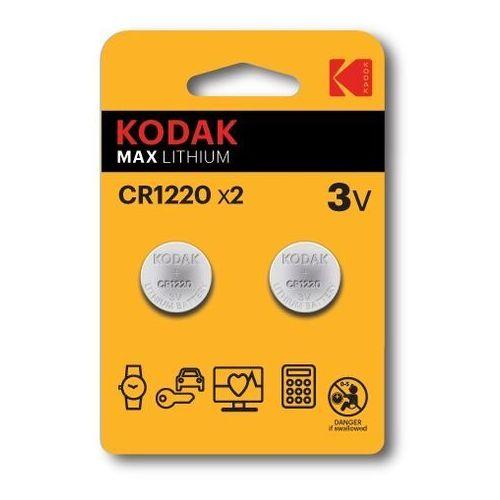 KODAK BATERIE LITOWE CR 1220 BLISTER X 2 SZT. - 30417717- Zamów do 16:00, wysyłka kurierem tego samego dnia!