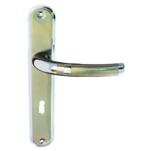 Klamka drzwiowa Schaffner Olivia 72 mm na klucz nikiel satyna/chrom, OLONI/CR7K