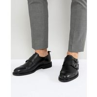 leather double monk shoes - black marki Selected homme