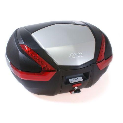 Kufer  v47n (czarny, 47 litrów, czerwone odblaski, pokrywa aluminiowa) marki Givi