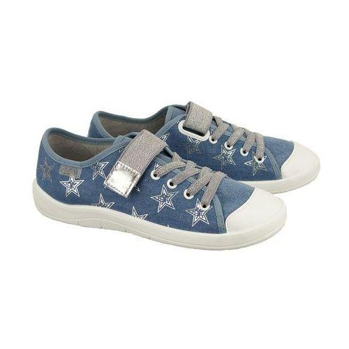 251q 094 niebieski, półtrampki dziecięce/młodzieżowe, rozmiary: 37-40 - niebieski marki Befado