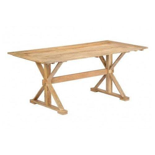 Stół z drewna Wadas 3X – jasnobrązowy, vidaxl_247593
