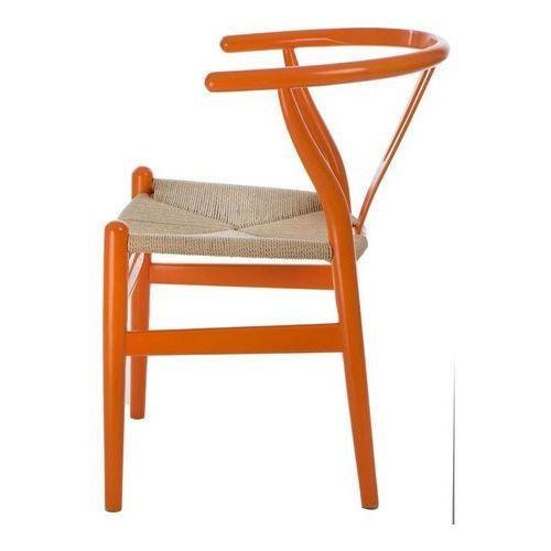 Krzesło Wicker Color naturalne/ pomarańczowe poekspozycyjne, D2-5367