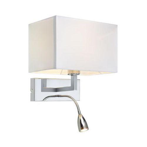 Kinkiet lampa ścienna Markslojd Savoy 1x60W E27+1x3W LED chrom/biały 106307