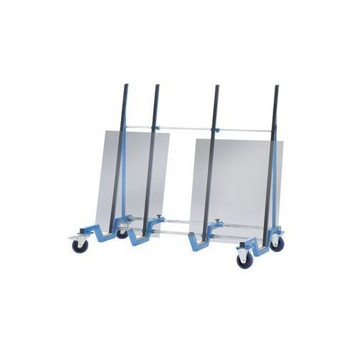 Wózek do transportu płyt, wersja niskopodłogowa, nośność 500 kg. Wys. ładunkowa