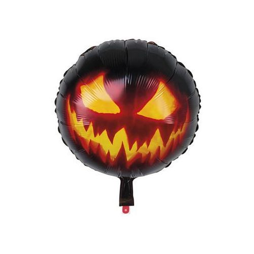Balon foliowy halloweenowy Straszna Dynia - 45 cm - 1 szt. (8712026723154)