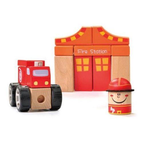 Brimarex Układanka drewniana straż pożarna w pud. (1574183) (5907791574183)