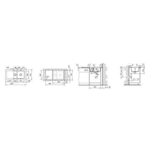 AURA 60 B-TG ONYKS ZLEW (88564) (8421152115534)