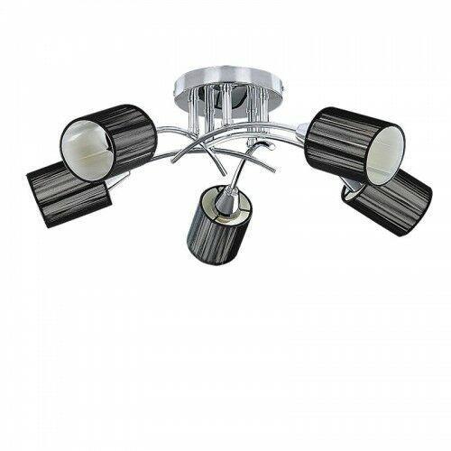 Plafon lampa sufitowa Rabalux Veda 5x9W E14 chrom / czarny 6002 (5998250360027)