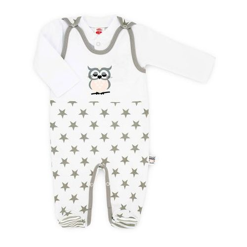 Komplet niemowlęcy śpioszki i kaftanik kolekcja sowa marki Makoma