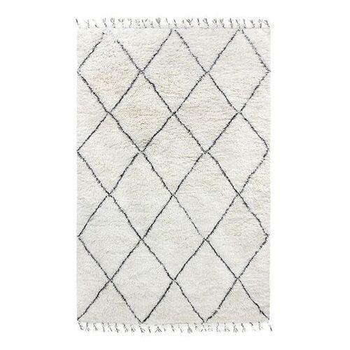 Hkliving dywan wełniany berberyjski czarno-biały (180x280) ttk3032