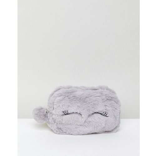 New Look Fluffy Monster Purse - Grey