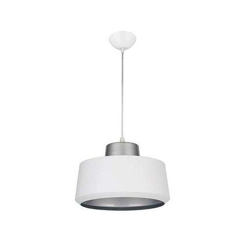 Lampa wisząca paula 03269 metalowa oprawa okrągła zwis biały marki Ideus