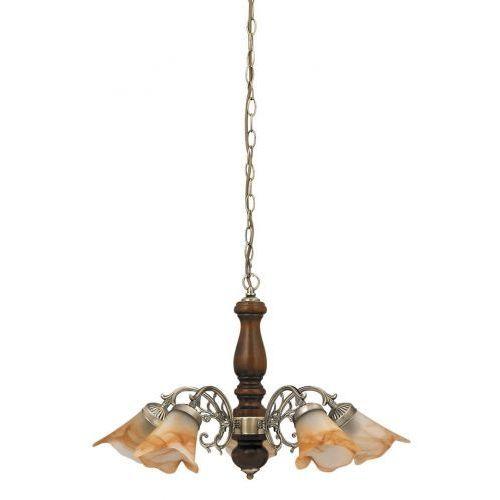 Rabalux Lampa wisząca rustic 3 5x40w e14 brąz/orzech 7095 (5998250370958)
