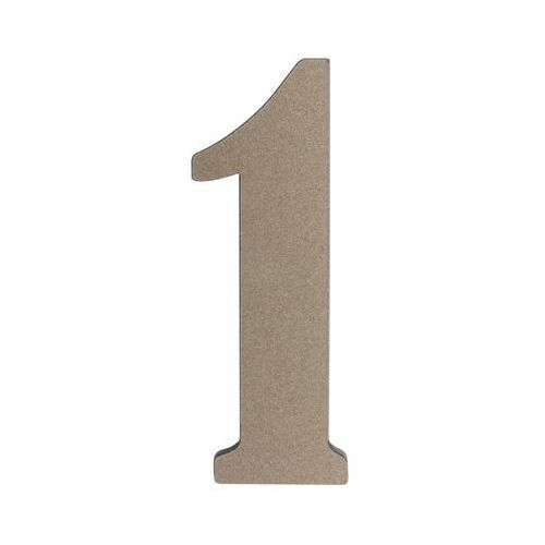 Cyfra 1 wys. 5 cm PVC srebrna