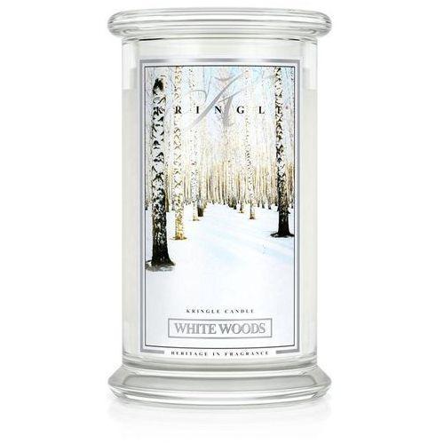 White woods świeca zapachowa biały las duży słoik 22oz 624g marki Kringle candle