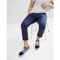 chino trouser with cropped tapered leg - navy marki Esprit