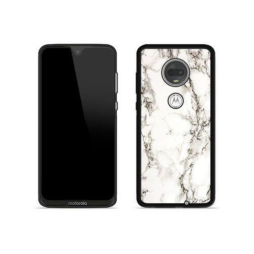 Motorola moto g7 plus - etui na telefon aluminum fantastic - biały marmur marki Etuo aluminum fantastic