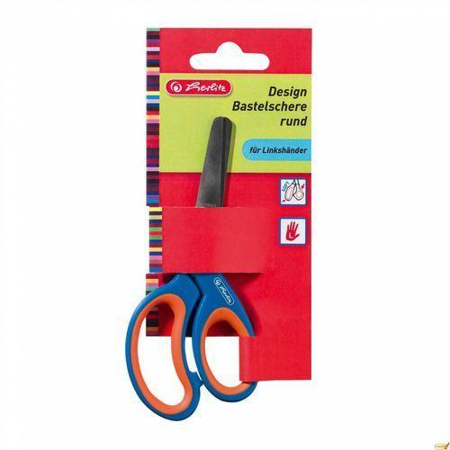Nożyczki dla leworęcznych okrągłe - marki Herlitz