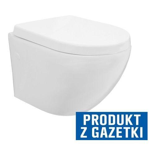 CARLO MINI RIMLESS Miska WC wisząca bezrantowa + deska wolnoopadająca (5902557324750)