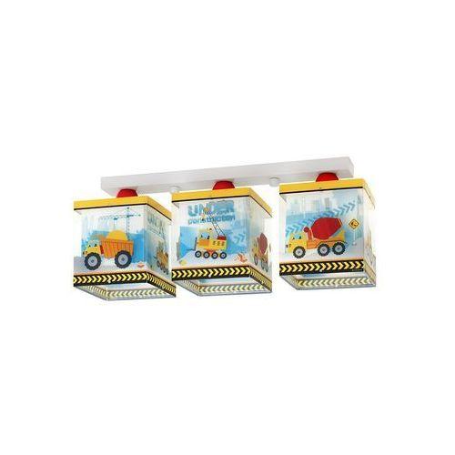 Klik 63613 - Lampa sufitowa dziecięca CONSTRUCTOR 3xE27/60W/230V, NR. 63613
