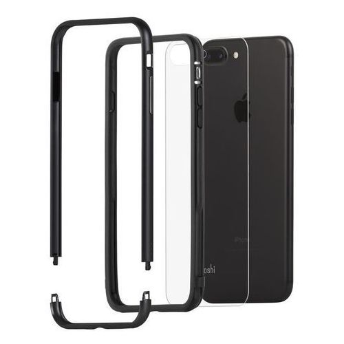 Moshi (eol) luxe etui z aluminiową ramką do iphone 8 plus / 7 plus (black) (4713057251108)