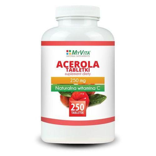 Acerola 250mg (MyVita) 250 tabl. (5905279123861). Najniższe ceny, najlepsze promocje w sklepach, opinie.