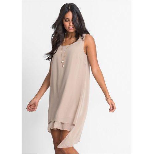 58c16e2686 Sukienka szyfonowa bonprix beżowy