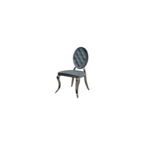 Krzesło ludwik ii glamour dark silver - nowoczesne krzesła pikowane kryształkami marki Bellacasa
