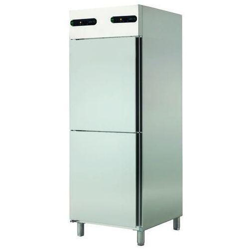 Szafa chłodnicza 2-drzwiowa prawostronna z oddzielnym sterowaniem temperatury, 2x350 l, 693x826x2008 mm   , ecp-702/2 r marki Asber