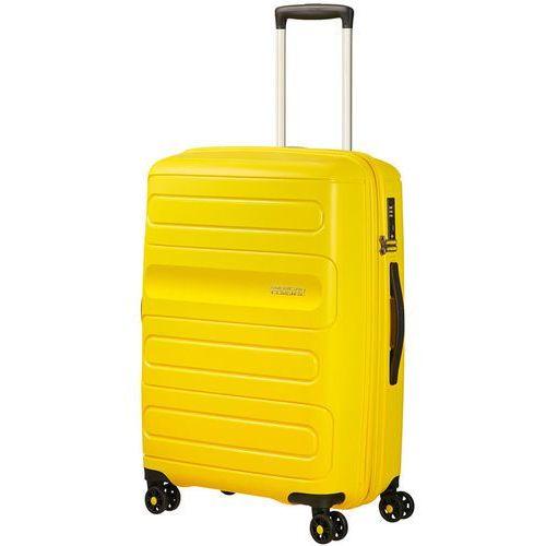 American tourister sunside średnia poszerzana walizka 67,5 cm / żółta - sunshine yellow