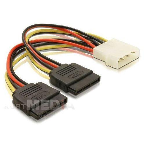 kabel sata zasilający molex(m)-sata(f) x2 10cm (60102) szybka dostawa! darmowy odbiór w 19 miastach!, marki Delock