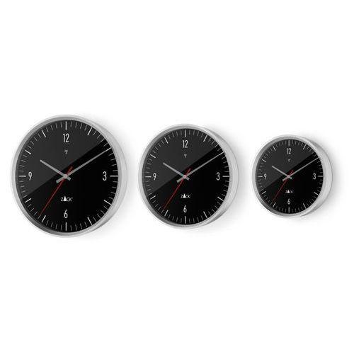 Zack - zegar ścienny sterowany radiowo 30 cm - czarny - stal nierdzewna matowa - 30,00 cm