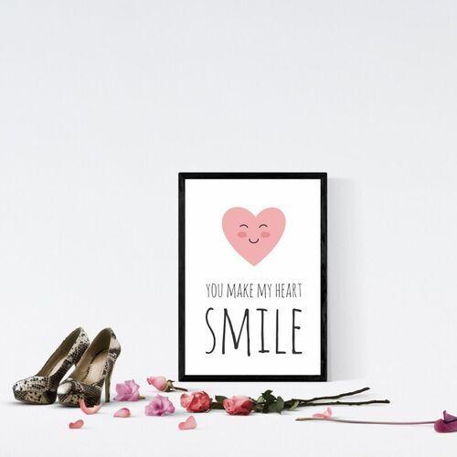 Wally - piękno dekoracji Plakat you make my heart smile 035