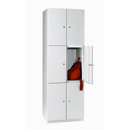 Eugen wolf Szafa z półkami, 6 półek, 1800x600x500 mm, drzwi jasnoszare. solidna, spawana ko