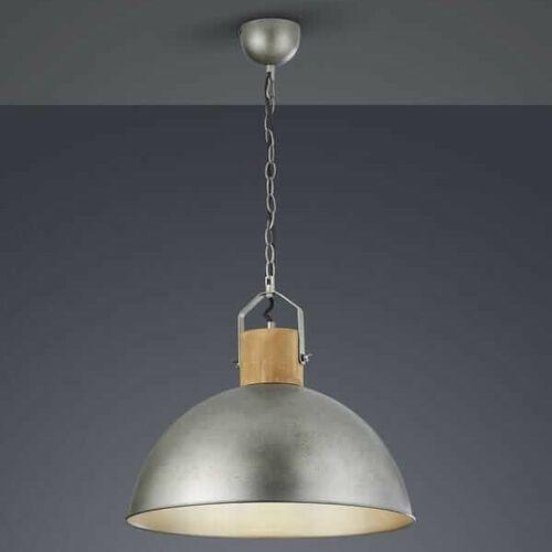 Wisząca lampa loftowa delhi 303400167 metalowa oprawa kopuła zwis industrialny nikiel brązowy marki Trio