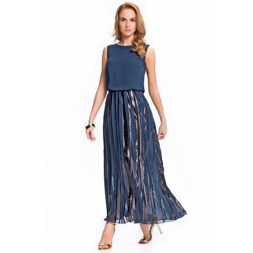Jelonek Granatowa sukienka w długości maxi -