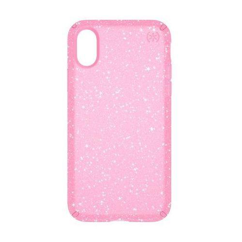 Speck Presidio Clear with Glitter - Etui iPhone X (Gold Glitter/Bella Pink)