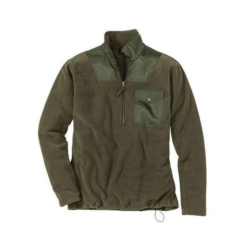 Bluza z polaru z zamkiem Regular Fit bonprix ciemnooliwkowy, kolor zielony