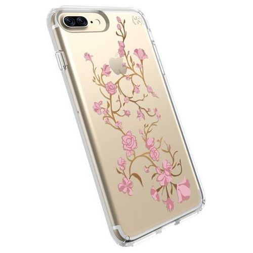 Speck Presidio Clear with Print - Etui iPhone 8 Plus (Goldenblossoms Pink/Clear), kolor różowy