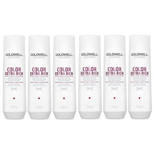 Goldwell dualsenses color extra rich   zestaw: szampon do włosów farbowanych 6x250ml