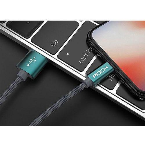 Kabel NYLON 1.8M ROCK iPhone 5/6 granatowy - granatowy
